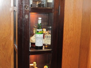 Scotch Cabinet in the Smoking Room