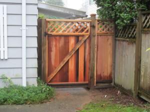 Back gate westside of house