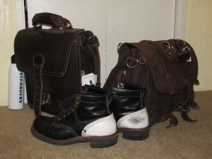 Saddleback Leather Bags with my Dayton Boots