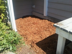 Bar mulch in place