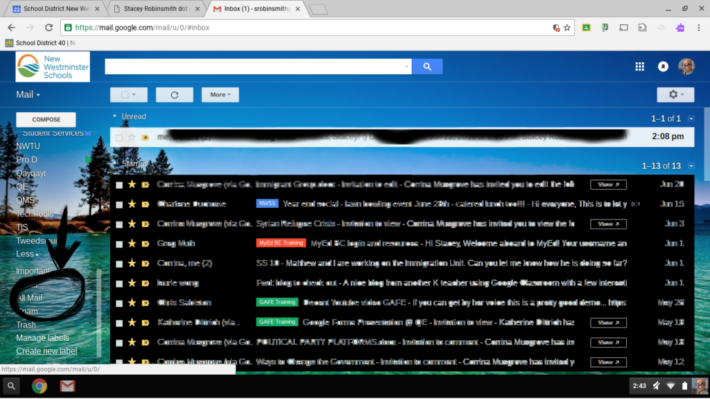 Inbox Screenshot of All Mail