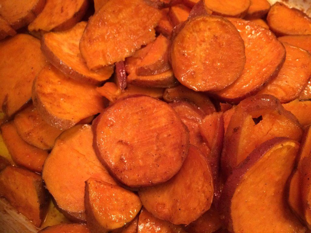 Maple Baked Yams