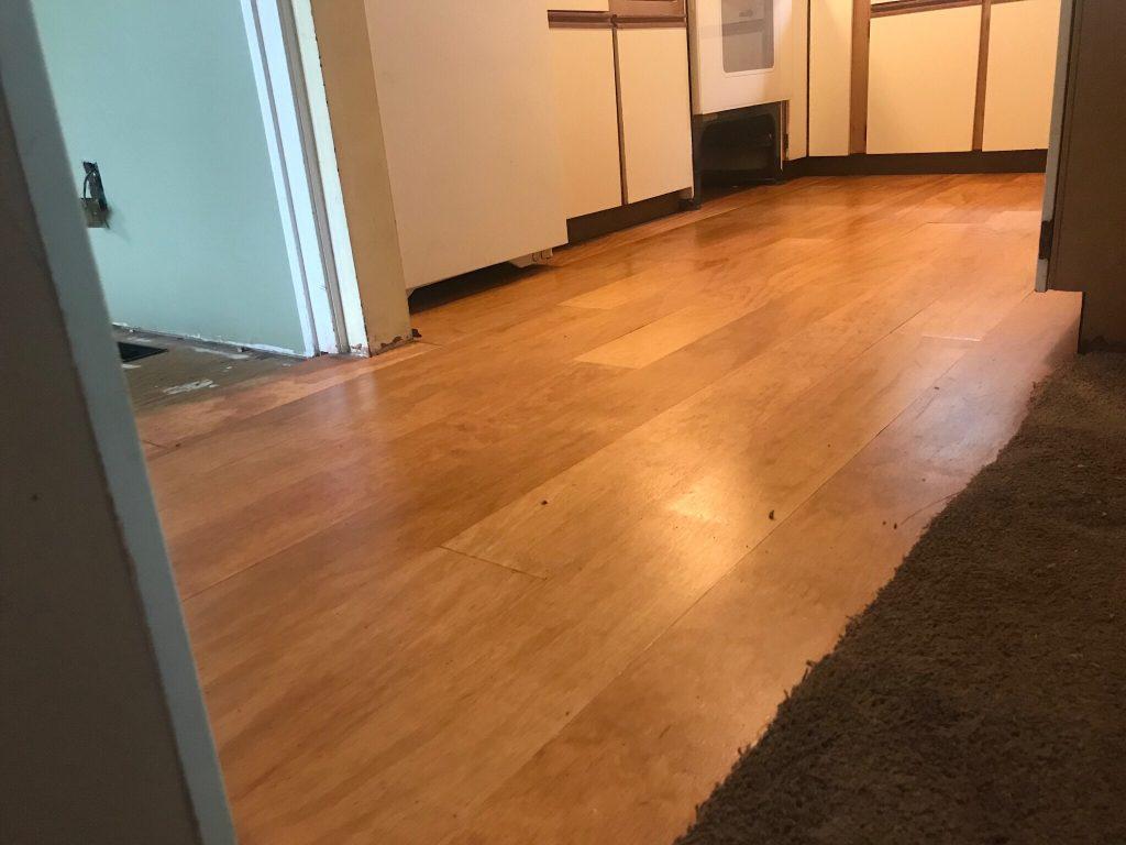 plywood plank floor